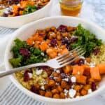 Sweet Potato and Kale Quinoa Bowls